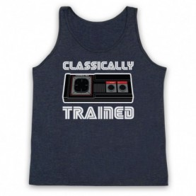 Classically Trained Master System Console Controller Adults Heather Navy Blue Tank Top