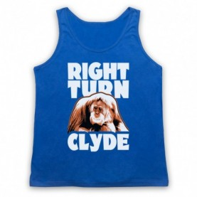Every Which Way But Loose Right Turn Clyde Adults Royal Blue Tank Top