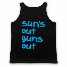 22 Jump Street Sun's Out Guns Out Adults Black Tank Top