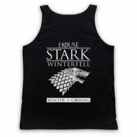 Game Of Thrones House Stark Adults Black Tank Top