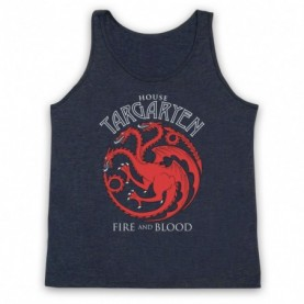 Game Of Thrones House Targaryen Adults Heather Navy Blue Tank Top
