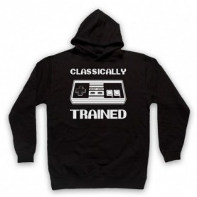 Classically Trained NES Console Controller Adults Black Pullover Hoodie