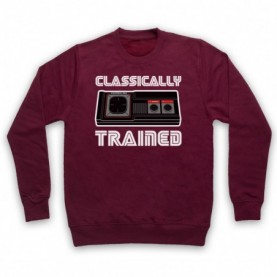 Classically Trained Master System Console Controller Adults Burgundy Sweatshirt