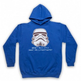 Star Wars Aren't You A Little Short For A Stormtrooper? Adults Royal Blue Pullover Hoodie