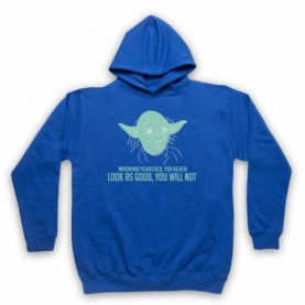 Star Wars Yoda 900 Years Old Look As Good You Will Not Adults Royal Blue Pullover Hoodie