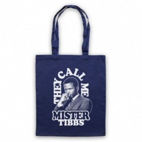 In The Heat Of The Night They Call Me Mr Tibbs Navy Blue Tote Bag