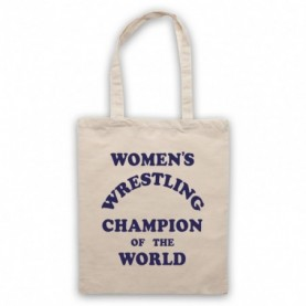 Women's Wrestling Champion Of The World As Worn By Andy Kaufman Natural Tote Bag
