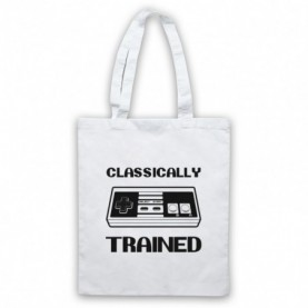 Classically Trained NES Console Controller White Tote Bag