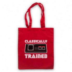 Classically Trained Master System Console Controller Red Tote Bag