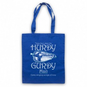 Donovan Hurdy Gurdy Man Royal Blue Tote Bag