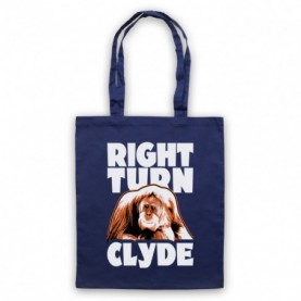 Every Which Way But Loose Right Turn Clyde Navy Blue Tote Bag