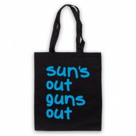22 Jump Street Sun's Out Guns Out Black Tote Bag