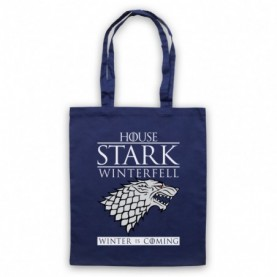 Game Of Thrones House Stark Navy Blue Tote Bag