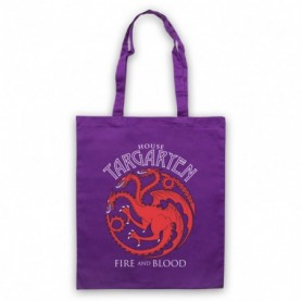 Game Of Thrones House Targaryen Purple Tote Bag