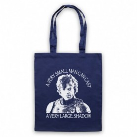 Game Of Thrones Tyrion Lannister Small Man Can Cast Large Shadow Navy Blue Tote Bag