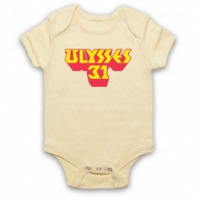 Ulysses 31 Logo Light Yellow Baby Grow