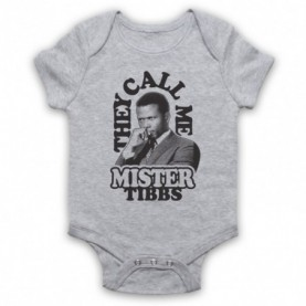 In The Heat Of The Night They Call Me Mr Tibbs Heather Grey Baby Grow