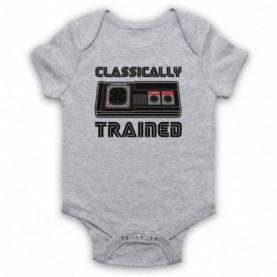 Classically Trained Master System Console Controller Heather Grey Baby Grow