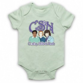 Cosby Stills And Nash CSN Bill Cosby Light Green Baby Grow