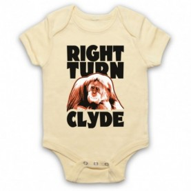Every Which Way But Loose Right Turn Clyde Light Yellow Baby Grow