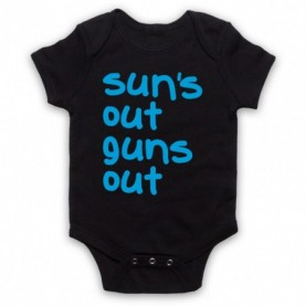 22 Jump Street Sun's Out Guns Out Black Baby Grow