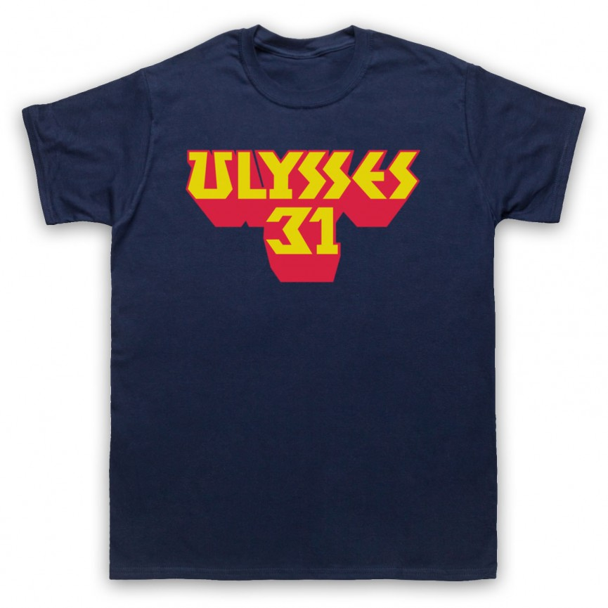Ulysses 31 Logo Mens Navy Blue T-Shirt