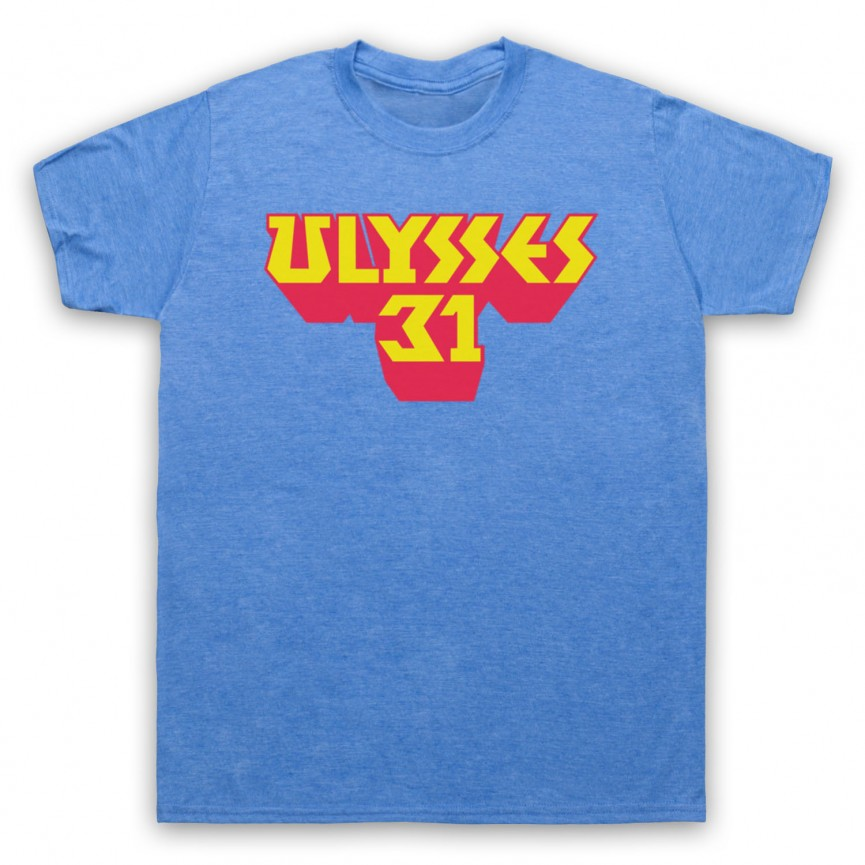 Ulysses 31 Logo Mens Heather Blue T-Shirt