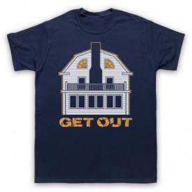 Amityville Horror Get Out Haunted House Mens Navy Blue T-Shirt