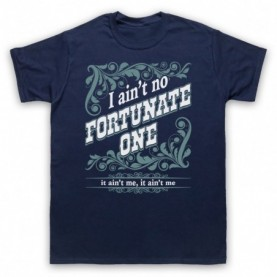 Creedence Clearwater Revival CCR Fortunate Son Mens Navy Blue T-Shirt