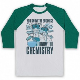 Breaking Bad Walter & Jesse I Know The Chemistry Adults White & Green Baseball Tee