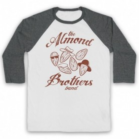 Almond Brothers Band Rock Band Parody Adults White & Grey Baseball Tee