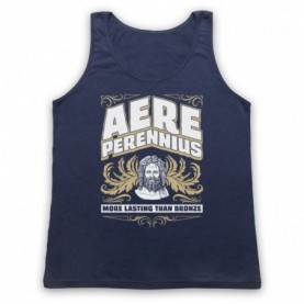 Aere Perennius More Lasting Than Bronze Adults Navy Blue Tank Top