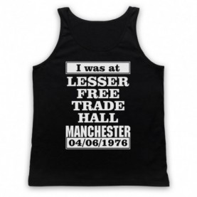 I Was At Lesser Free Trade Hall Manchester Gig Adults Black Tank Top