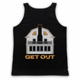 Amityville Horror Get Out Haunted House Adults Black Tank Top