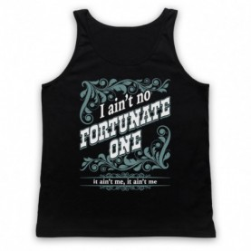 Creedence Clearwater Revival CCR Fortunate Son Adults Black Tank Top