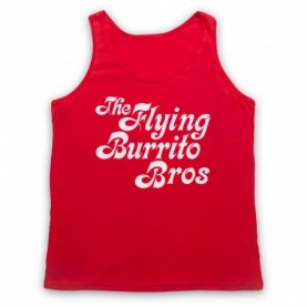 Flying Burrito Brothers Bros Band Adults Red Tank Top