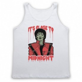 Michael Jackson Thriller  Adults White Tank Top