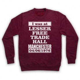 I Was At Lesser Free Trade Hall Manchester Gig Hoodie Sweatshirt Hoodies & Sweatshirts