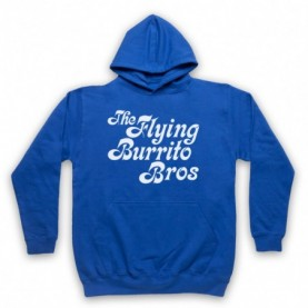 Flying Burrito Brothers Bros Band Adults Royal Blue Pullover Hoodie