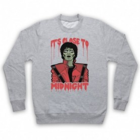 Michael Jackson Thriller  Adults Heather Grey Sweatshirt