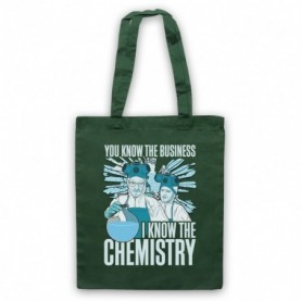 Breaking Bad Walter & Jesse I Know The Chemistry Dark Green Tote Bag