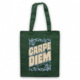 Carpe Diem Seize The Day Dark Green Tote Bag