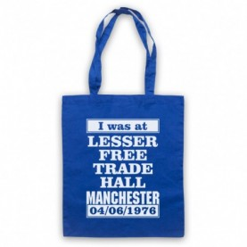 I Was At Lesser Free Trade Hall Manchester Gig Royal Blue Tote Bag