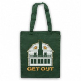 Amityville Horror Get Out Haunted House Dark Green Tote Bag
