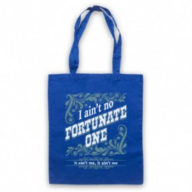 Creedence Clearwater Revival CCR Fortunate Son Royal Blue Tote Bag
