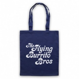 Flying Burrito Brothers Bros Band Navy Blue Tote Bag