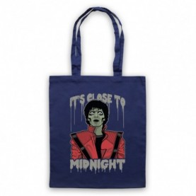 Michael Jackson Thriller  Navy Blue Tote Bag