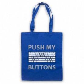 Push My Buttons Computer Geek Royal Blue Tote Bag