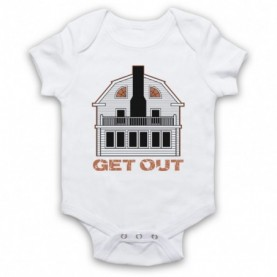 Amityville Horror Get Out Haunted House White Baby Grow