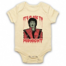 Michael Jackson Thriller  Light Yellow Baby Grow